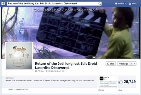 How To Watch Unreleased Scenes From 'Return Of The Jedi' On Facebook (For Now) - AllFacebook | News You Can Use - NO PINKSLIME | Scoop.it
