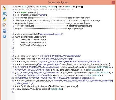Análisis espacial con PyQGIS. Ejemplo: Merge | Geoprocessing | Scoop.it