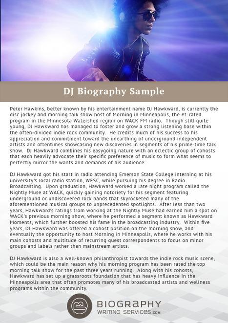DJ Biography Sample | Best Biography Samples | ...