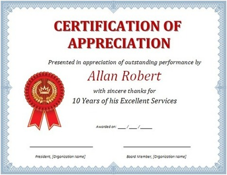 Ms word certificate of appreciation ready mad ms word certificate of appreciation yadclub Image collections