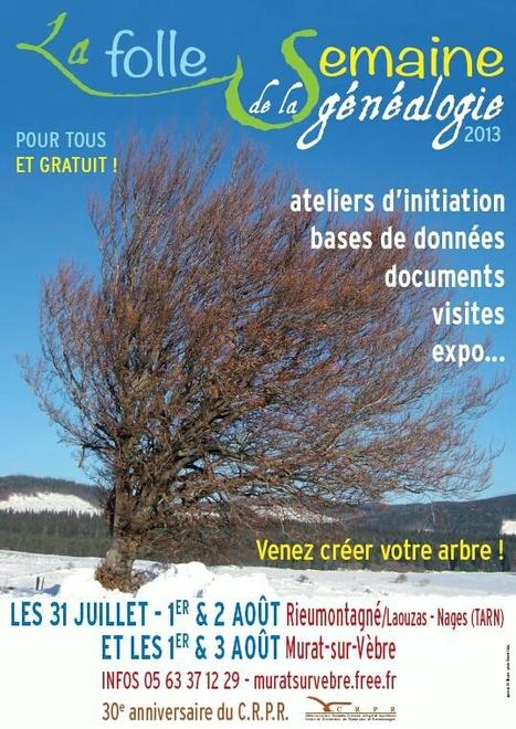 Du 31 juillet au 3 août 2013 – Folle semaine de la généalogie « Centre de Recherches du Patrimoine deRieumontagné | Nos Racines | Scoop.it