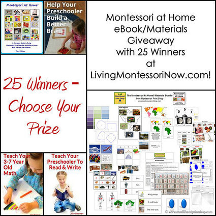 Montessori at Home eBook/Materials Giveaway with 25 Winners! | Montessori Inspired | Scoop.it