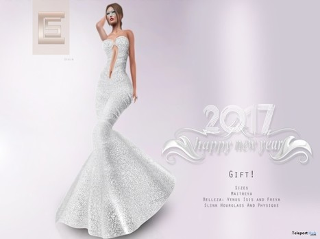 Tanae Gown New Year 2017 Group Gift by Scandalize | Teleport Hub - Second Life Freebies | Second Life Freebies | Scoop.it