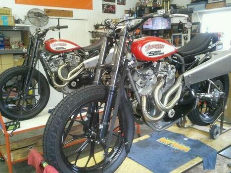 Teddy is done! Harleys gettin loaded up also,,,Daytona here we come | California Flat Track Association (CFTA) | Scoop.it