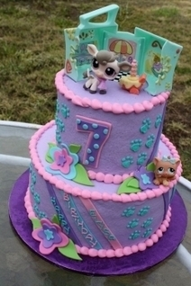 Sensational Littlest Pet Shop Birthday Cake And Cupcakes Funny Birthday Cards Online Elaedamsfinfo