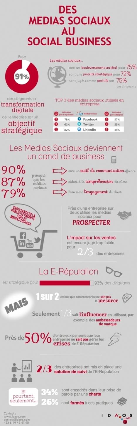 Les réseaux sociaux : un canal de business encore mal maîtrisé | Infographies médias sociaux | Scoop.it