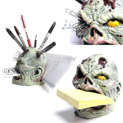 Zombie Pencil Holder, the Undead Desk Organizer | All Geeks | Scoop.it