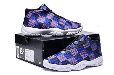 23e9c2ee432d29 Nike Air Jordan 11 Future White Dark Blue Purple Black Sneaker