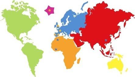 Jeux ducatifs pour apprendre les langue for Planisphere enfant
