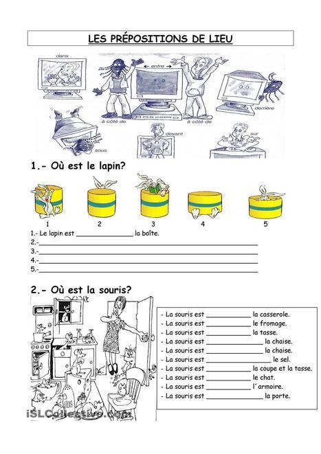 les prépositions de lieu fiche d'exercices - Fiches pédagogiques gratuites FLE | Le Top du FLE | Scoop.it