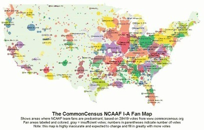 The Geography of College Football Fans   AP Human Geography Education   Scoop.it