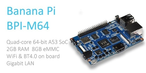About banana pi BPI-M64 · banana pi BPI-M64 allwinner A64 64 bit single board computer | ARM Turkey - Arm Board, Linux, Banana Pi, Raspberry Pi | Scoop.it