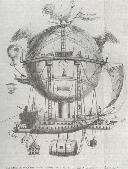 Ptak Science Books: Suggestions of Magnificence: Bloated and Bumpy SteamPunk Aviation, 1830's.   VI Geek Zone (GZ)   Scoop.it