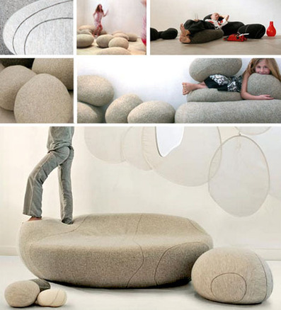 Living Stones: Rock-Shaped Cushions Come in All Sizes | Designs & Ideas on Dornob | Furniture Design | Scoop.it
