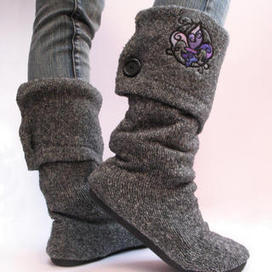 Upcycled Sweater Boots | Vintage Living Today For A Future Tomorrow | Scoop.it