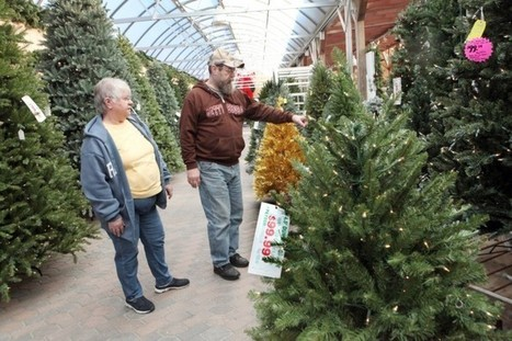 sales decline as consumers shift between real and artificial christmas trees
