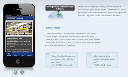 New York indexe l'art de son métro dans une application mobile officielle | #Localisation | Scoop.it