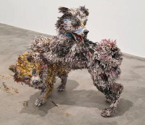 Junkculture: Impressive Paper Mache Sculptures of Dogs Gone Wild | Papier | Scoop.it