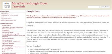 MaryFran's Google Docs Tutorials | Google Tools - Google Docs, Google Earth, Google Maps | Scoop.it
