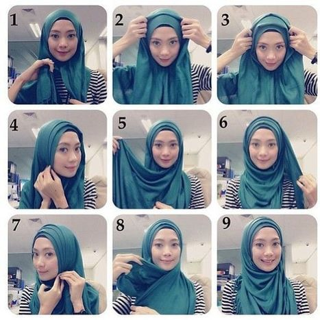 Tutorial hijab pashmina casual simple dan mudah terbaru 2017.