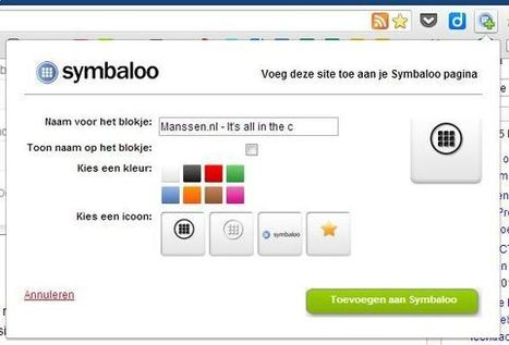 Mijn alternatief voor de startpagina iGoogle is….. Symbaloo! « André ... | iPad, Tablet, Chromebook, Surface, Raspberry PI & Smartboard op de Basisschool | Scoop.it