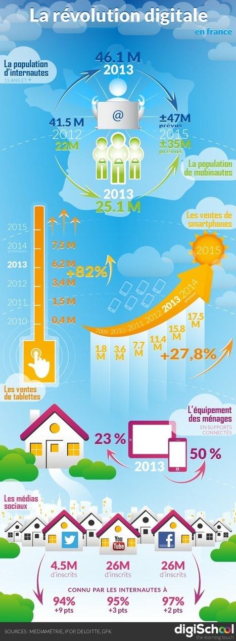 Infographie : la révolution digitale en France en 2014 | Les réseaux sociaux | Scoop.it