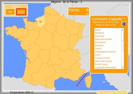 Cartes de géographie interactives | patrimoine francais | Scoop.it