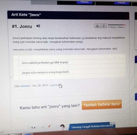 Masuk KamusSlang.com, popularitas ''Jonru'' meroket | Social Media Epic | Scoop.it
