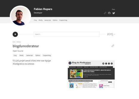 MakerSlate : le CV en ligne dédié aux développeurs et designers - Blog du Modérateur | Boite à outils E-marketing | Scoop.it