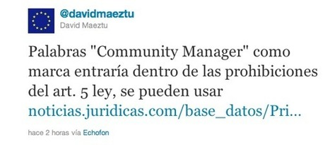 ¿Me pueden prohibir usar la expresión Community Manager? | The digital tipping point | Scoop.it