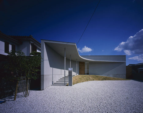 Minimalism + Light: CURVED Courtyard House in Naruto, Japan | The Architecture of the City | Scoop.it