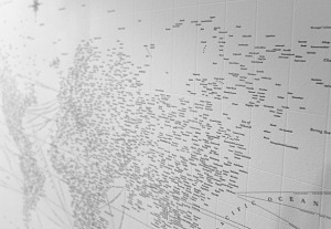 A Typographical Map of the World | Map@Print | Scoop.it