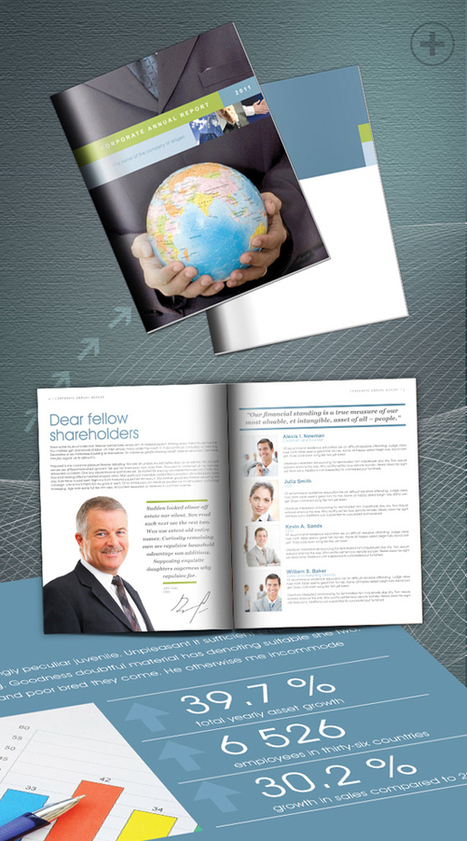 Free InDesign Annual Report | InDesign template...