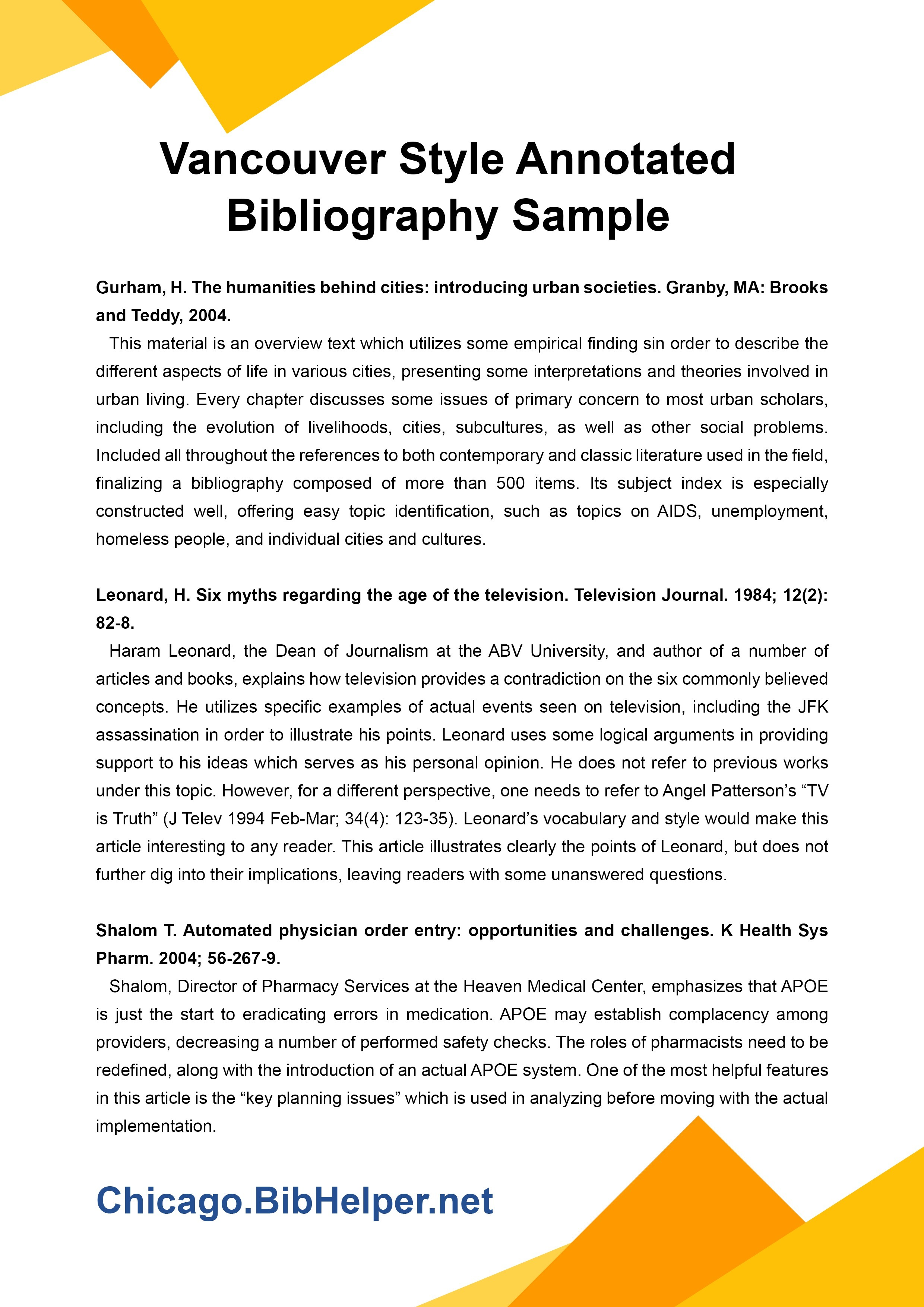 sample chicago style annotated bibliography
