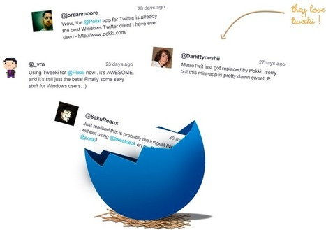 Twitter app for Windows | Tweeki | social media in schools | Scoop.it