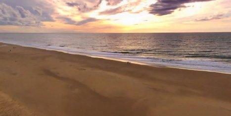 Vidéo. Découvrez Le Porge vu du ciel depuis un drone | Revue de presse Pays Médoc | Scoop.it