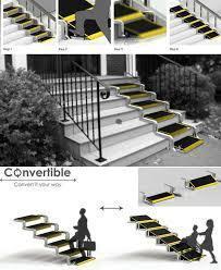 le concept d escalier convertible en ramp. Black Bedroom Furniture Sets. Home Design Ideas