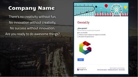¿Cómo insertar un formulario en Genially? - Do it genially | Recursos TIC y otros | Scoop.it