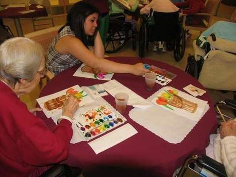 Special needs students and long-term care residents find common ground in art - MyCentralJersey.com | Social Skills & Autism | Scoop.it