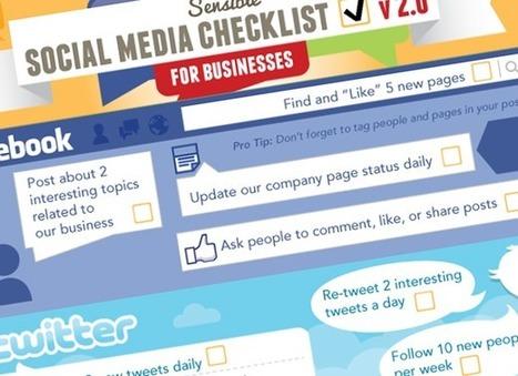 Check-list des 20 choses à faire pour attaquer son business sur les réseaux sociaux #infographie | iBoo Veille Technologique | Scoop.it