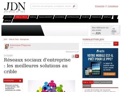 Réseaux sociaux d'entreprise : les meilleures solutions au crible - Websourcing.fr   Formation entreprise RSE   Scoop.it