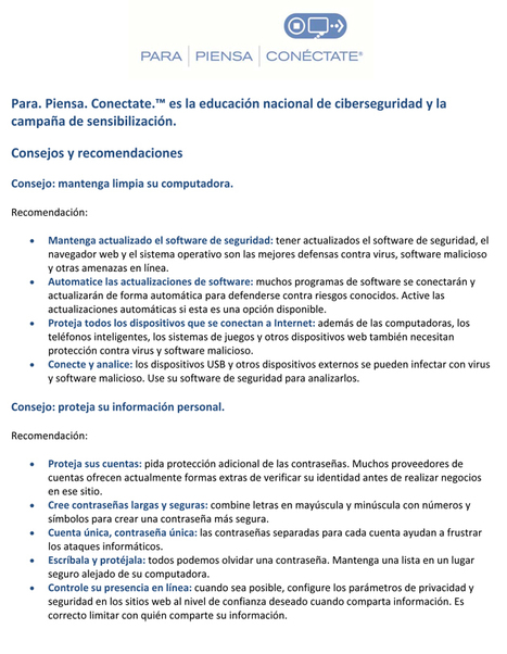 Para Piensa Conéctate  ¦ Stop Think Connect | Informática Forense | Scoop.it