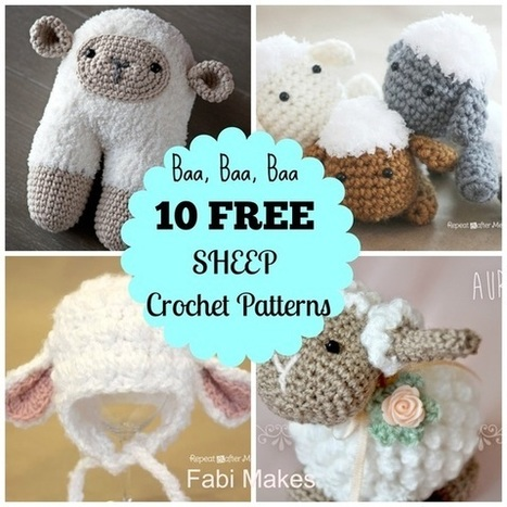 10 Free Sheep Crochet Patterns Crochetf