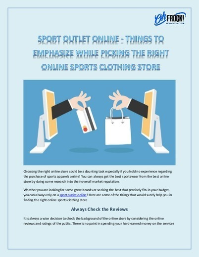 Shop Sport Outlet Online With Oh Frock   Sporti
