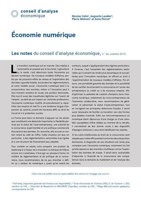 [Note d'analyse] Economie numérique -  Conseil d'Analyse Economique   Veille Hadopi   Scoop.it