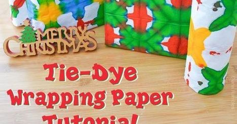 Tie-Dye Wrapping Paper Easy Tutorial for Wrapping Gifts | Bazaar | Scoop.it