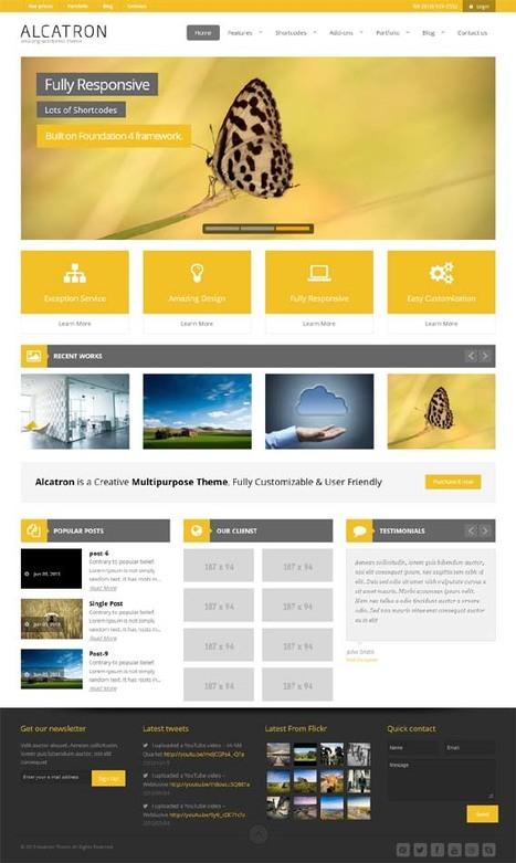 Alcatron, Premium WordPress Yellow Business Theme   WP Download   Premium WordPress Themes Download   Scoop.it