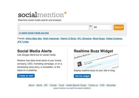 [Outil] Créez des alertes sur les médias sociaux avec Social Mention | digitalcuration | Scoop.it