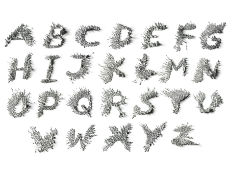 A polarizing new font made with iron filings and magnets | D_sign | Scoop.it