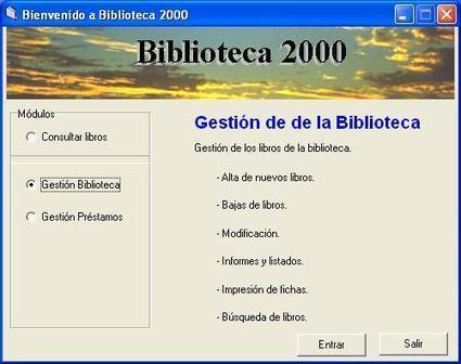 Biblioteca 2000 software gratuito para la gesti n de for Funcion de un vivero escolar